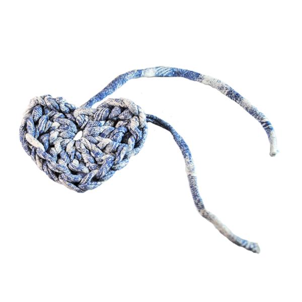 Cœur déco gris bleu
