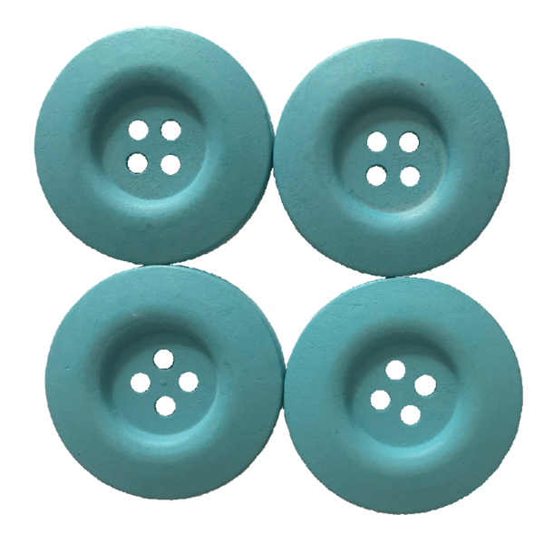 boutons bois turquoise